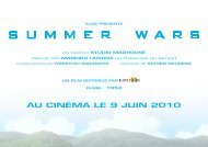 dossier de presse SUMMER WARS - Cinéma l'Horloge Meximieux