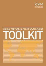 Mining: Partnerships for Development Toolkit - Oxford Policy ...