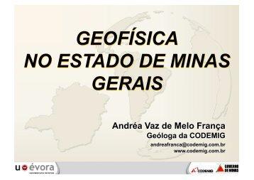 geofísica no estado de minas gerais geofísica no estado de minas ...