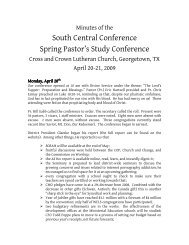 Spring Pastor's Conference, April 2009 - The South Central District
