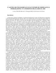 criminalità 2000-2001.pdf - Osservatorio di Pavia