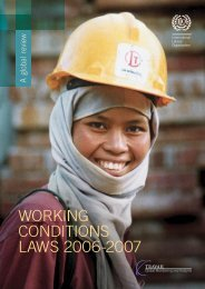 WORKING CONDITIONS LAWS 2006-2007 - International Labour ...