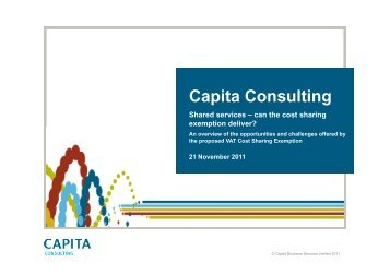 Shared services – can the cost sharing ... - Capita Consulting