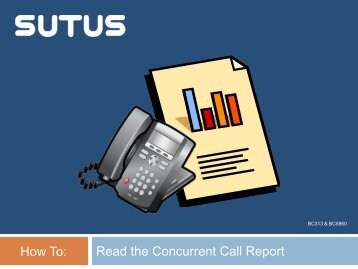 How To Read the Concurrent Calls Report