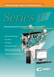 Defining High Value Electrochemistry... - Egmont Instruments