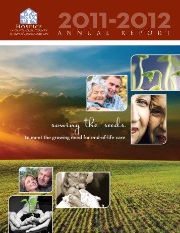 2011-2012 Annual Report - Hospice of Santa Cruz County