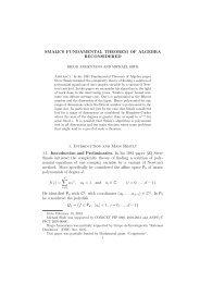 SMALE'S FUNDAMENTAL THEOREM OF ALGEBRA ... - PreMat