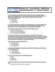 Sample Test – Exam 000-005 – IBM Maximo Asset Management V7 ...