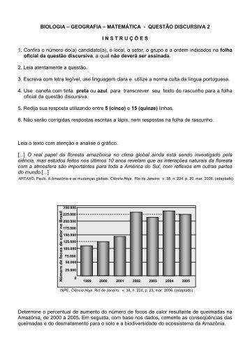 Prova comentada - Vestibular UFSC 2007
