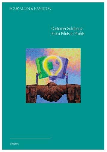 Customer Solutions: From Pilots to Profits - Booz Allen Hamilton