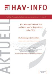 HAV Info Aktuell 1_2014 - Hamburgischer Anwaltverein eV
