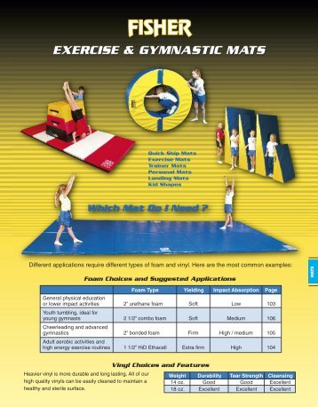 EXERCISE & GYMNASTIC MATS - Fisher Athletic