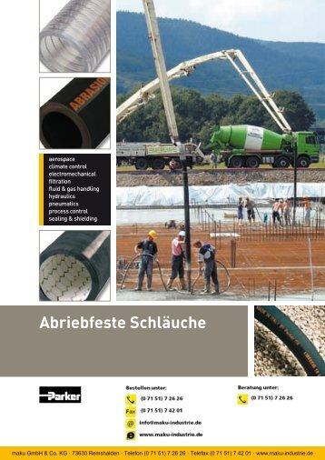 Katalog: 73-4100-DE Abriebfeste Schläuche - Parker