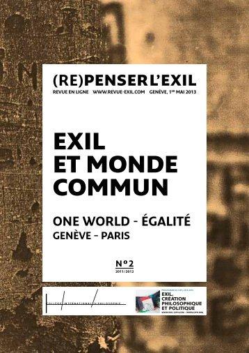 EXIL ET MONDE COMMUN - Exil-ciph.com