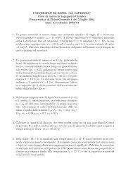Prova d'esame del 5 luglio 2004 - Sapienza
