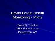 Urban Forest Health Monitoring - Pilots
