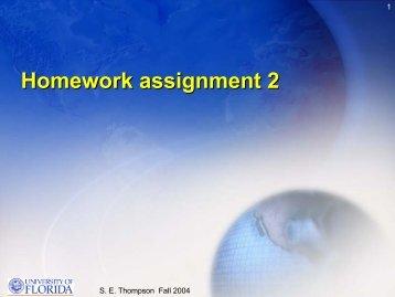 Homework assignment 2