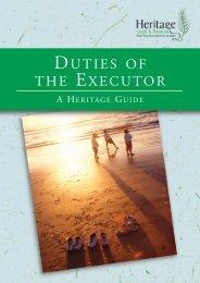 Duties of the Executor - Heritage Wills