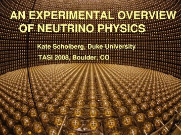an experimental overview of neutrino physics - University of ...