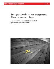 Best practice in risk management - Economist Intelligence Unit
