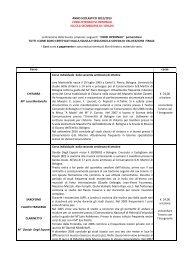 Ampliamento dell'offerta formativa/Corsi opzionali - Scuole Maestre ...