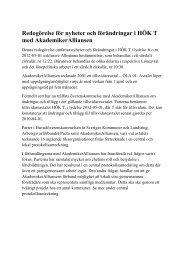 Nyheter och förändringar i HÖK-T 2012 - Skolledarna