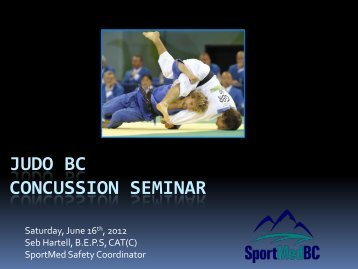 SportMedBC Concussion Management Workshop - Judo BC