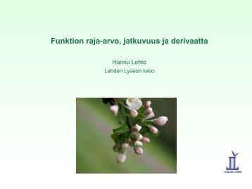 funktion raja-arvo äärettömyydessä - Lahti