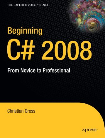 Beginning C# 2008-from Novice-to-professional - A2Z Dotnet