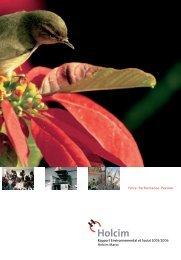 Rapport Environnemental et Social 2005/2006 Holcim Maroc