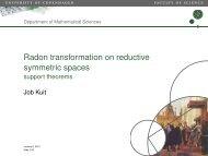 Radon transformation on reductive symmetric spaces - support ...
