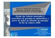 Estudo dos fatores associados à recorrência da gravidez ... - Epi2008