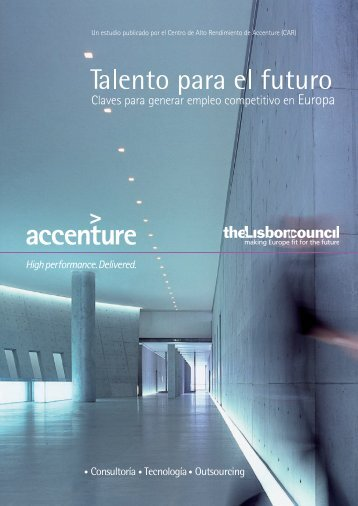 Talento para el futuro. Claves para generar empleo ... - Accenture