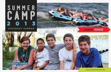 2013 Summer Brochure - Covenant Harbor