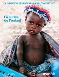 La situation des enfants dans le monde 2008 - Unicef