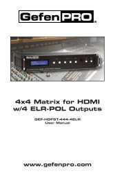 4x4 Matrix for HDMI w/4 ELR-POL Outputs - Gefen