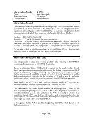 Interpretation Number: 02-07/05 - The IEEE Standards Association