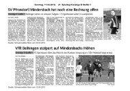 Sonntag, 11.04.2010, 21. Spieltag Kreisliga B Staffel 1