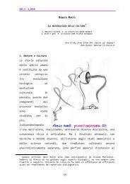 55 1. Natura e Cultura La storia naturale della specie umana è ...