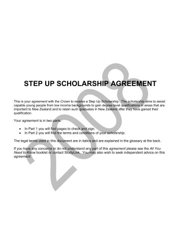 Look at the 2008 Terms and Conditions for Step Up ... - StudyLink