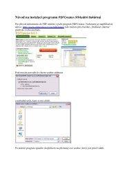 Návod na instalaci programu PDFCreator (Virtuální tiskárna)