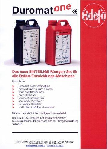 (pdf-file 365 KB) / Duromat OnE - ADEFO-CHEMIE GmbH