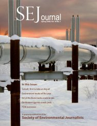 ournal - Society of Environmental Journalists