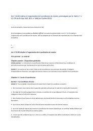 loi n° 32-09 relative à l'organisation de la profession de notaire ...