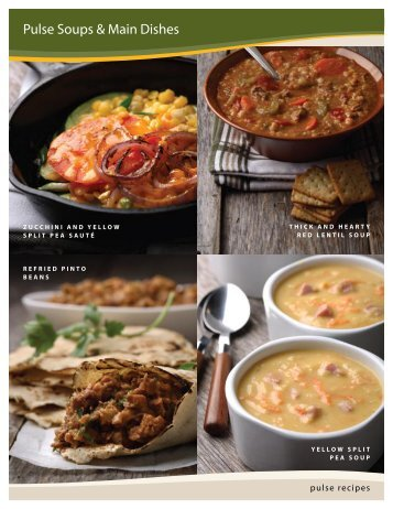 Pulse Soups & Main Dishes - Alberta Pulse Growers