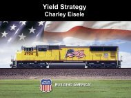 Yield Strategy Yield Strategy - Union Pacific