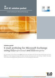 E-mail archiving for Microsoft Exchange using ... - ELO Digital Office