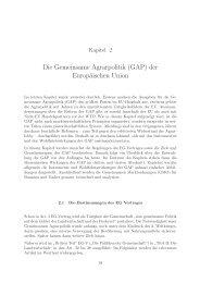 Die Gemeinsame Agrarpolitik (GAP) der Europäischen Union