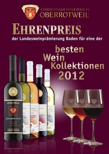 Ehrenpreis - Winzerverein Oberrotweil e.G.