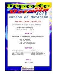 03 Carteles Actividades Verano 2013 Piscina - Ayuntamiento de ...